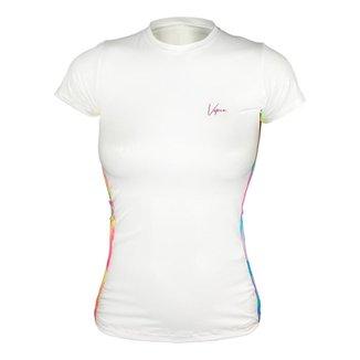Camiseta Ciclismo Feminina Manga Curta Proteção Solar