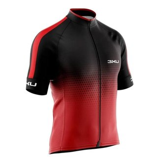 Camiseta Ciclismo Refactor 3xu Huracan Vermelha Manga Curta Bike Uv+ - SSX Multicoisas