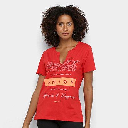 Camiseta Coca Cola Enjoy Feminina - Feminino