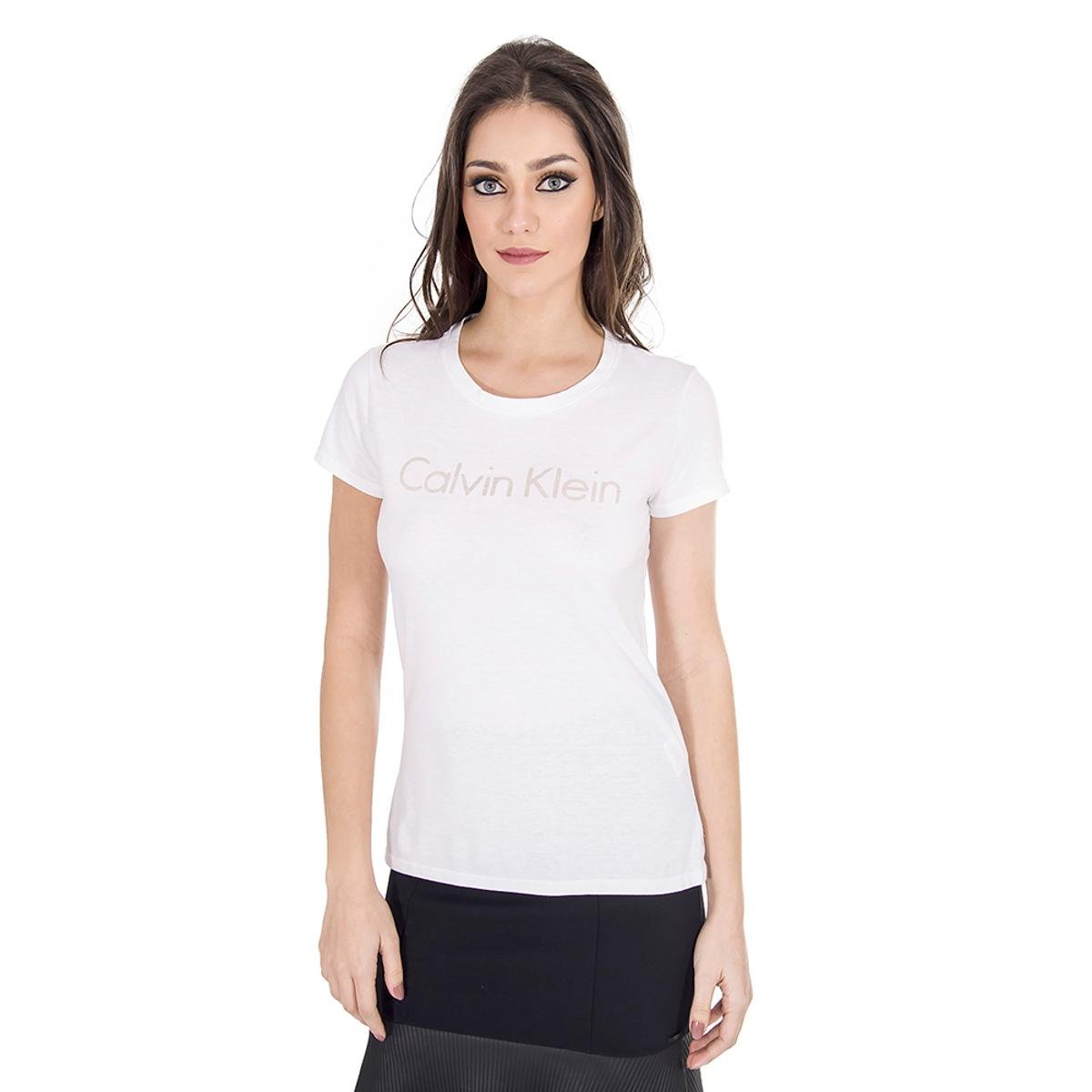 18d81e404 Camiseta Colcci Algodão Calvin Klein Feminina   Netshoes