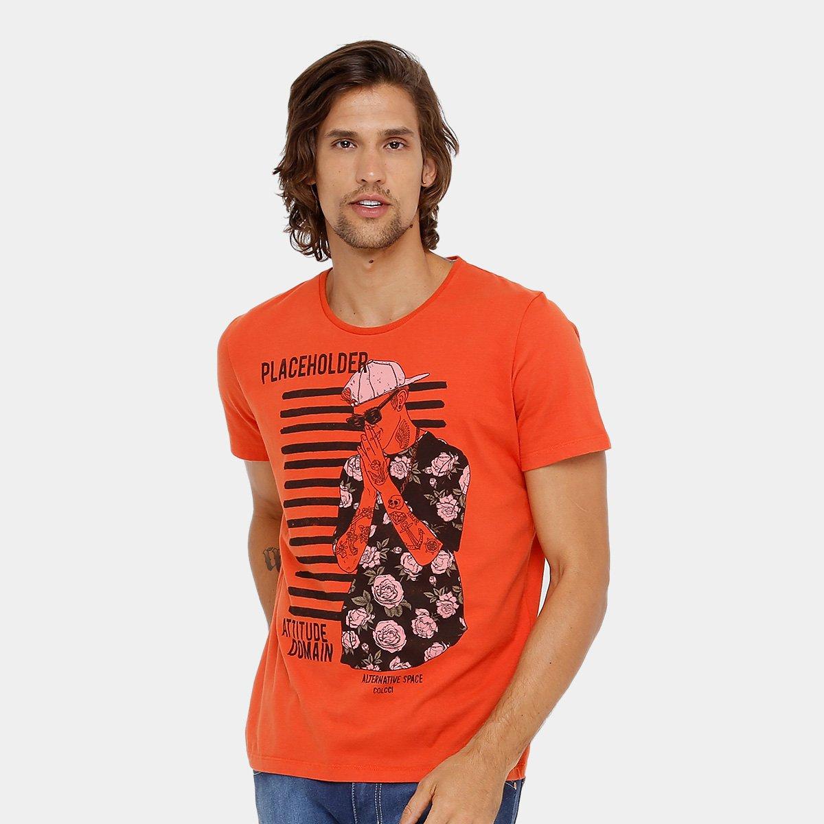 Camiseta Colcci Estampada Masculina - Compre Agora  ac26ae4587f