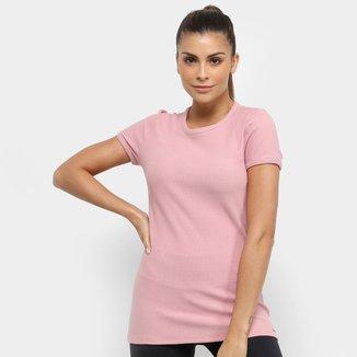 Camiseta Colcci Fitness Canelada Feminina