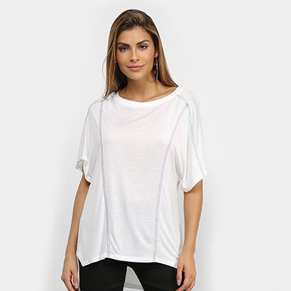 Camiseta Colcci Fitness Longline Feminina - Feminino