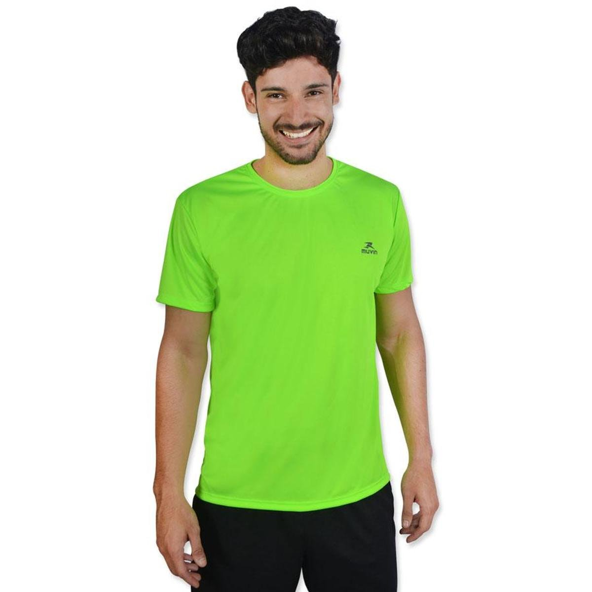 Camiseta Color SS Color Dry Color Muvin Verde Workout Limão SS Muvin Limão Verde Camiseta Workout Dry Camiseta Af10S