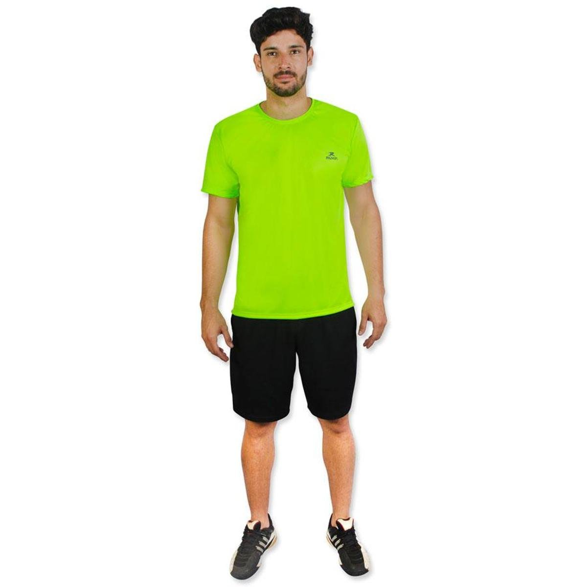 Muvin Verde Limão Camiseta Camiseta Dry Color Workout SS Color zwqZYO