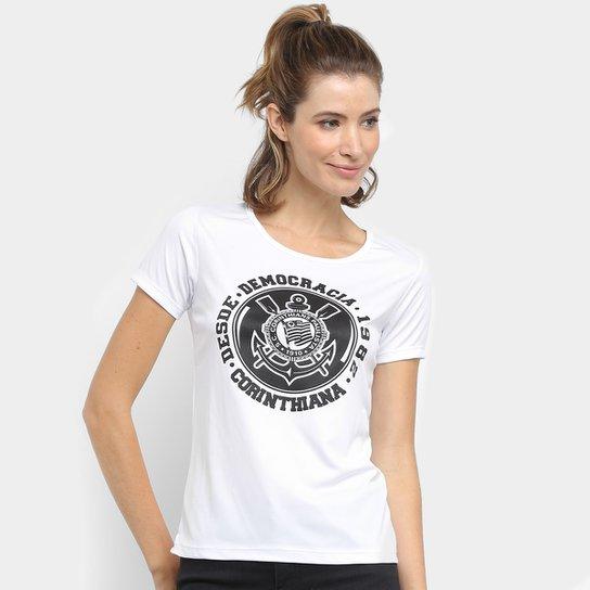 Camiseta Corinthians Democracia Corinthiana Frank Feminina - Branco