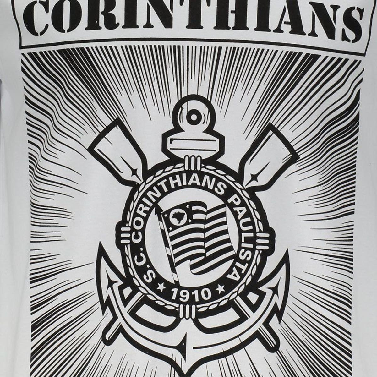 a417db8c46 Camiseta Corinthians Hector Masculina - Branco - Compre Agora