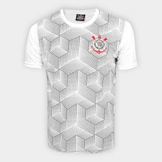 Camiseta Corinthians Jacquard Cubos Masculina