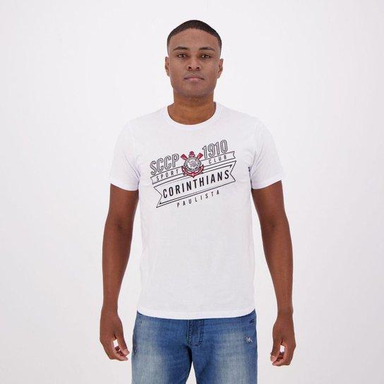 Camiseta Corinthians Masculina - Branco