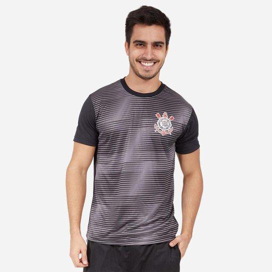 Camiseta Corinthians SPR Scrawl Masculino - Preto