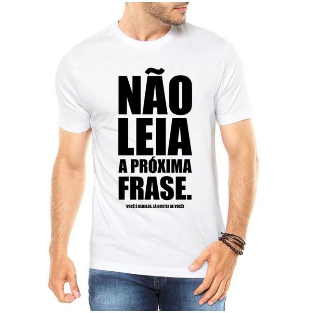 Camiseta Criativa Urbana Frases Engraçadas Não Leia - Branco - Compre Agora   dd4d8b56a1c