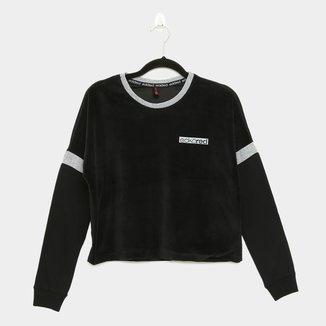 Camiseta Cropped Ecko Manga Longa Feminina