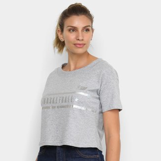 Camiseta Cropped NBA Holographic Feminina