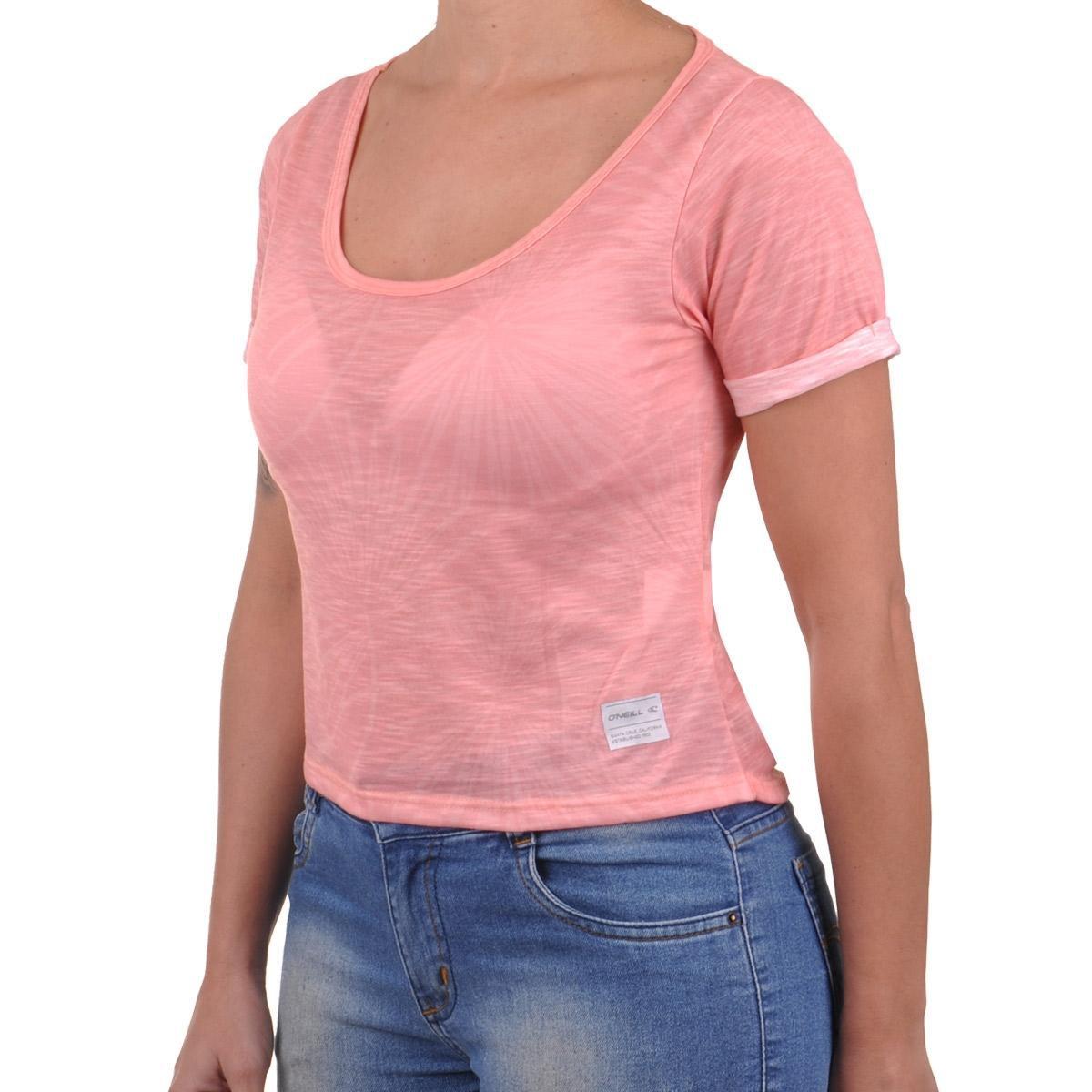 Oneill Feminino Rosa Palm Rosa Camiseta Palm Claro Cropped Claro Camiseta Cropped Feminino Oneill 8q1pFWw