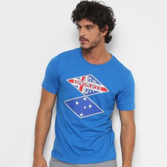 Camiseta Cruzeiro Flag Nations Torcedor Umbro Masculina
