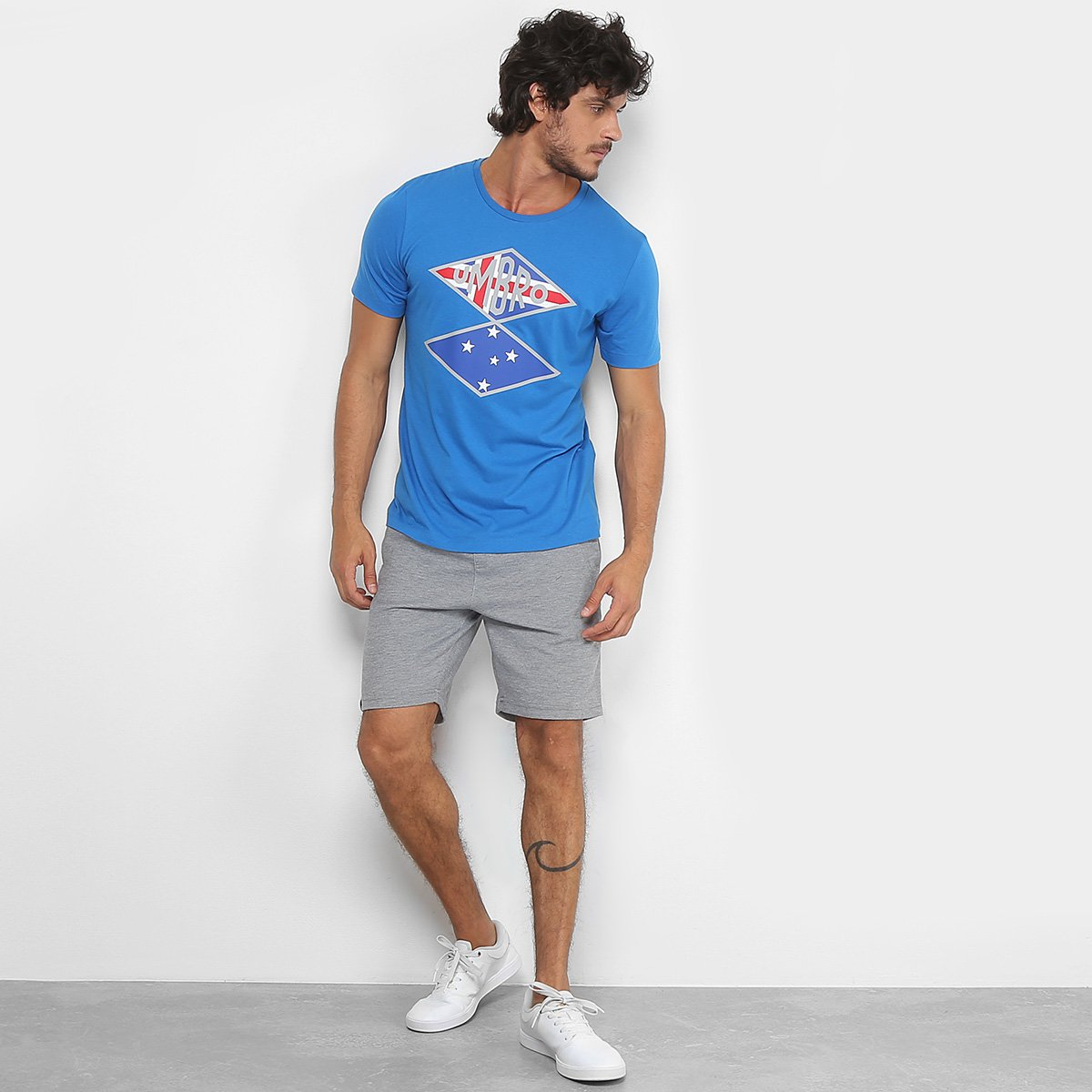 Camiseta Cruzeiro Flag Nations Torcedor Umbro Masculina - Azul ... d6d15786beb05