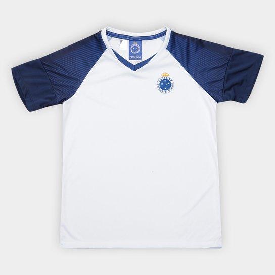 Camiseta Cruzeiro Infantil Fortune - Branco