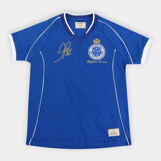 Camiseta Cruzeiro Juvenil 2003 nº 10 Especial - Azul Royal
