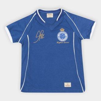 Camiseta Cruzeiro Juvenil Retrô Mania 2003 Alex Triplice Coroa