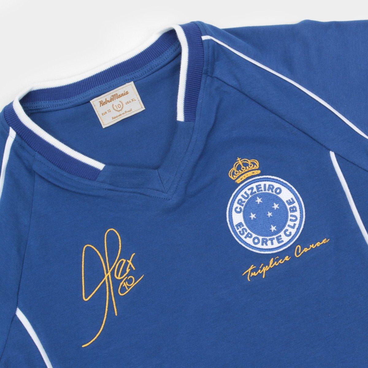 Camiseta Cruzeiro Juvenil Retrô Mania 2003 Alex Triplice Coroa ... 2a3c18396de61