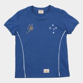 Camiseta Cruzeiro Juvenil Retrô Mania 2003 Copa do Brasil