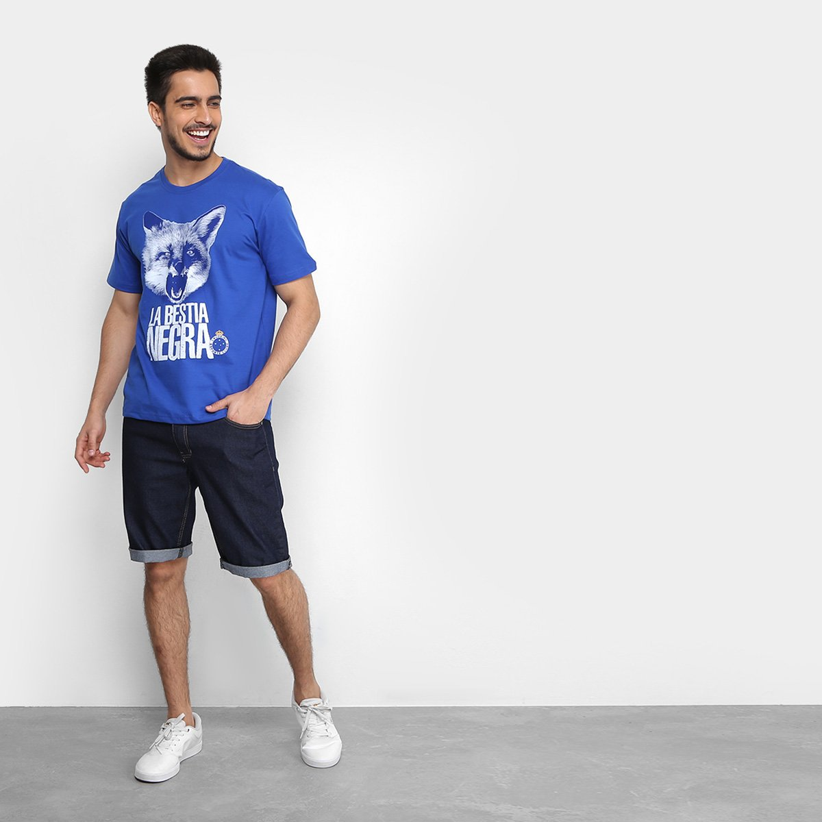 Camiseta Cruzeiro La Bestia Masculina - Azul - Compre Agora  e23268b04eb08