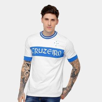 Camiseta Cruzeiro Recorte Masculina