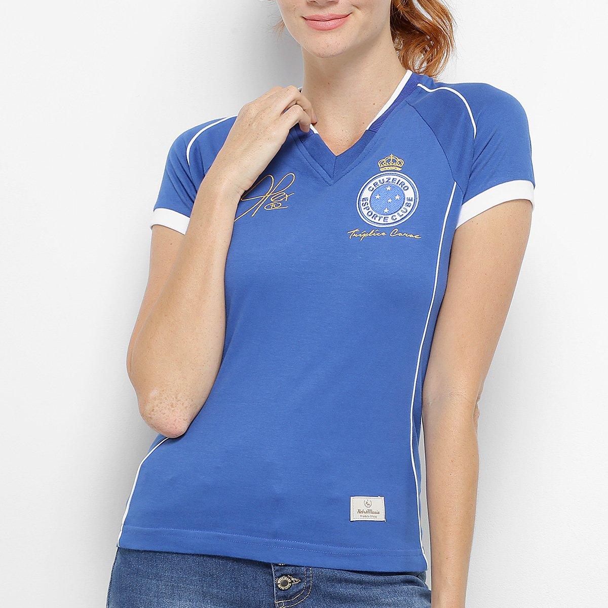 Camiseta Cruzeiro Retrô Mania 2003 Alex Tríplice Coroa Feminina ... 1bbdae07470a3