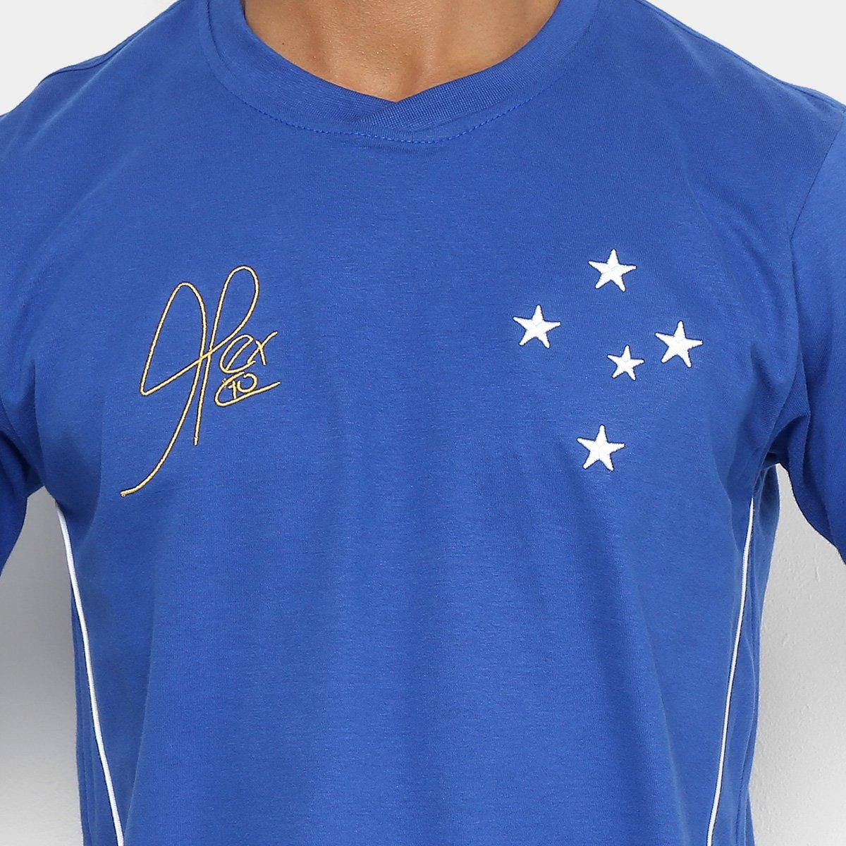 Camiseta Cruzeiro Retrô Mania 2003 Copa do Brasil Masculina - Azul ... d3d40c67c04b9