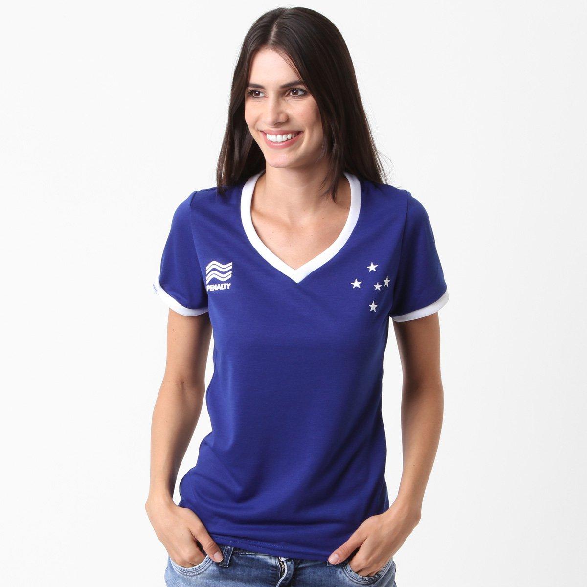 Camiseta Cruzeiro Torcedor Penalty Feminina - Compre Agora  727403e998e3f