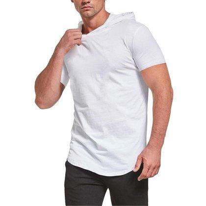 Camiseta Darkwood Masculina Com Capuz Camisa Branca