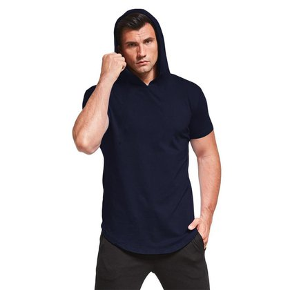 Camiseta Darkwood Masculina Com Capuz Camisa Marinho