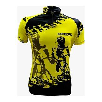 Camiseta De Ciclismo King Brasil Com Bolsos Pedal