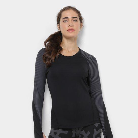 Camiseta de Compressão Adidas DNA Sport Ls Feminina - Preto
