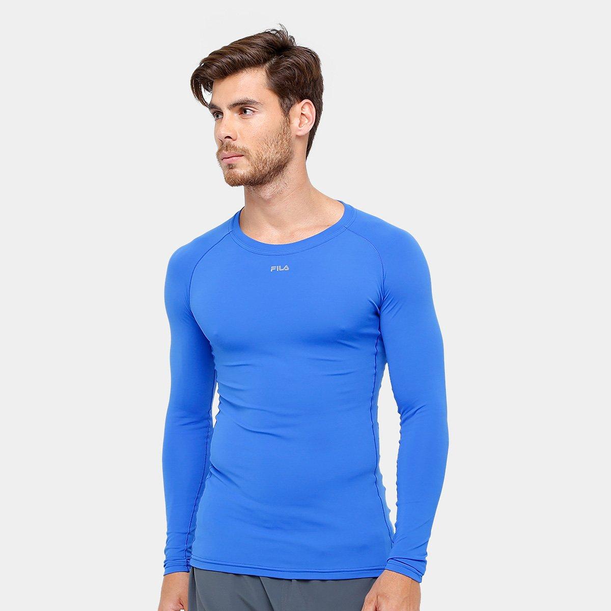 a73f93292619f Camiseta de Compressão Fila Manga Longa Masculina - Compre Agora ...