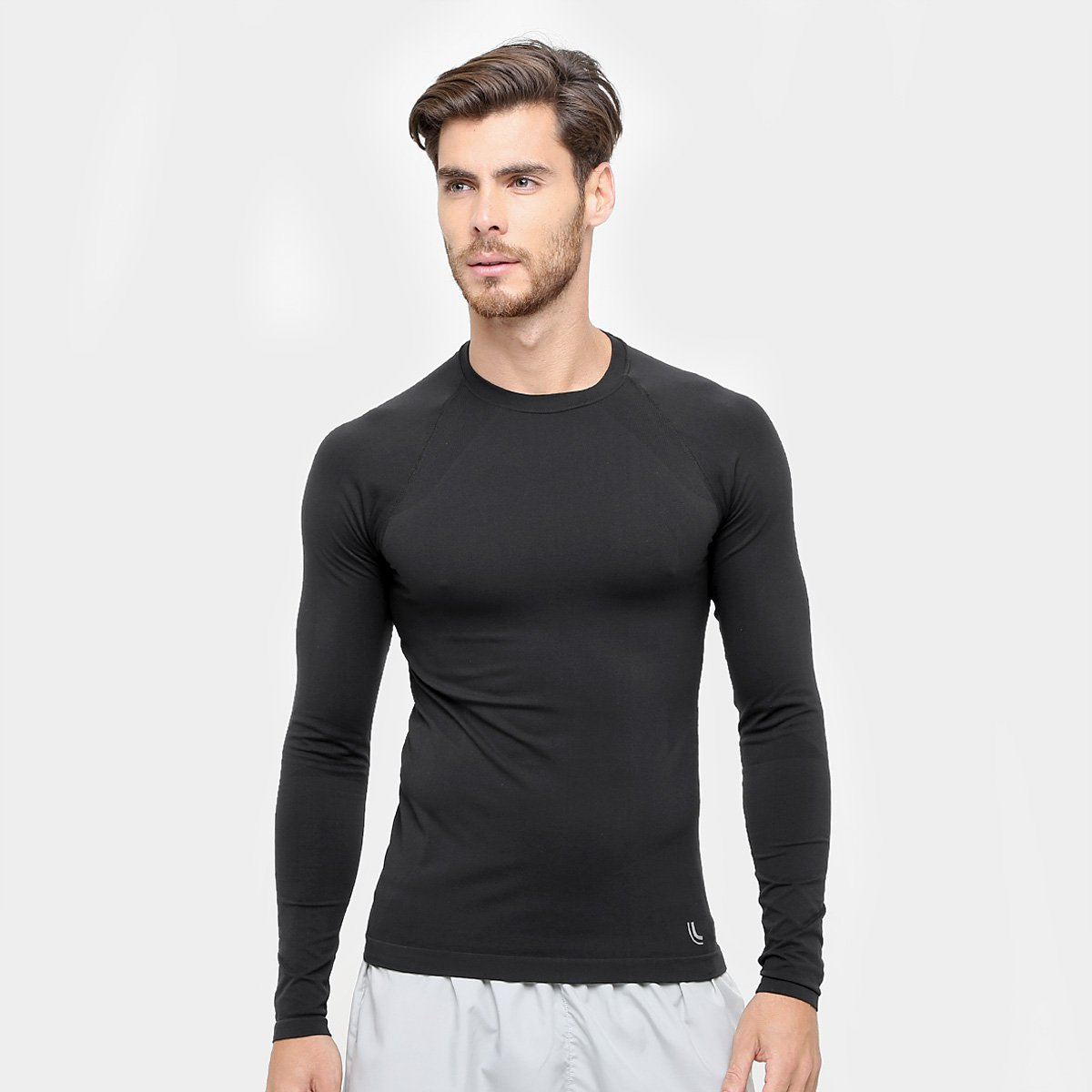 2621042107f44 Camiseta de Compressão Lupo Sport Run Manga Longa - Preto - Compre Agora