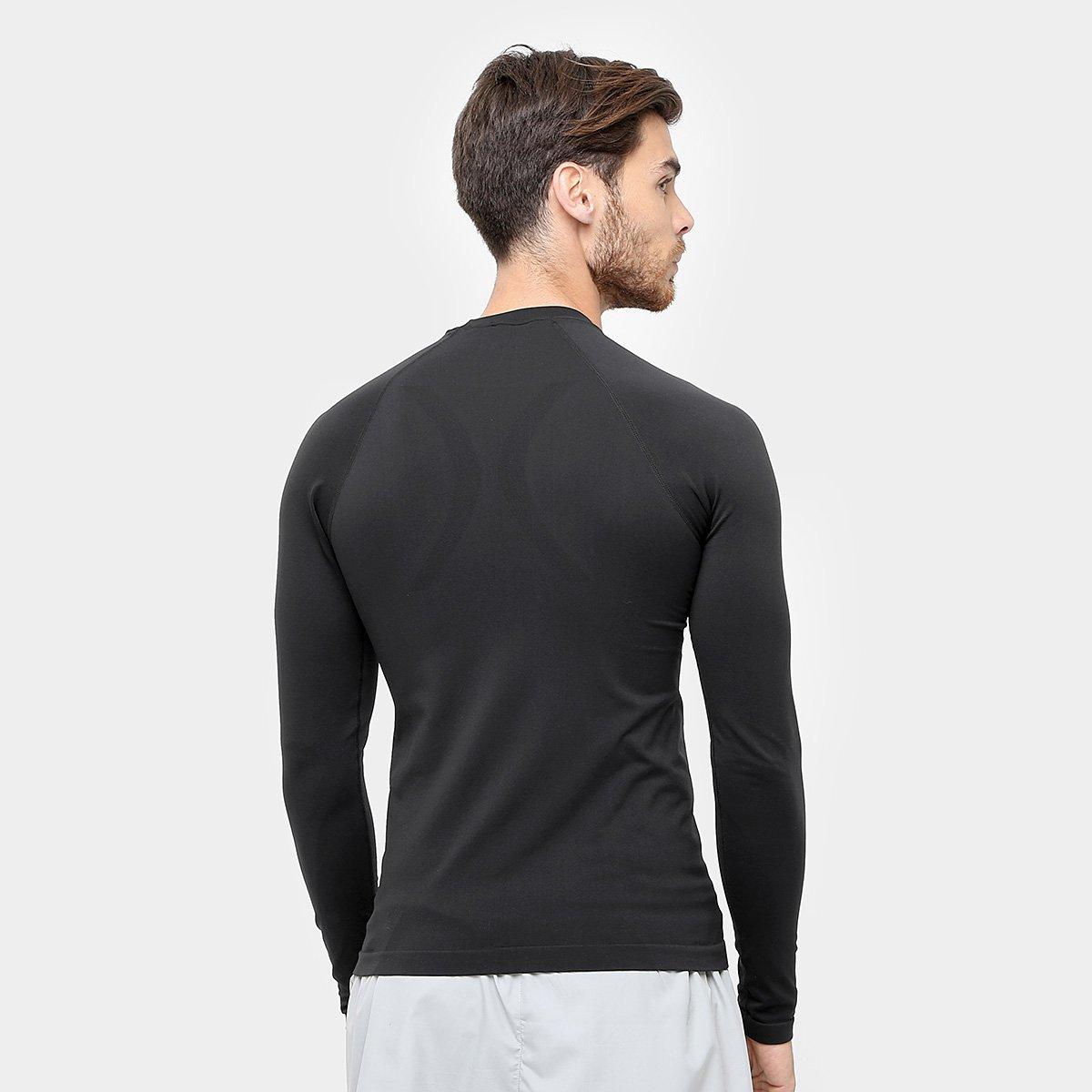 Camiseta de Compressão Lupo Sport Run Manga Longa - Preto - Compre ... d38a654a59342