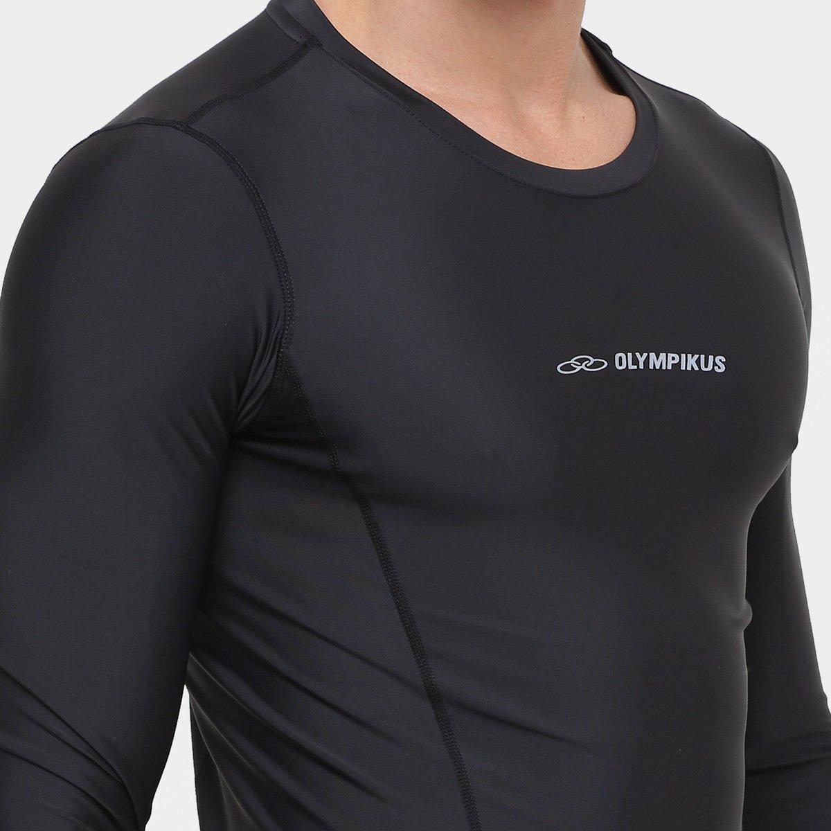 Camiseta de Compressão Olympikus Manga Longa Masculina - Compre ... 855d57e9fb3dc
