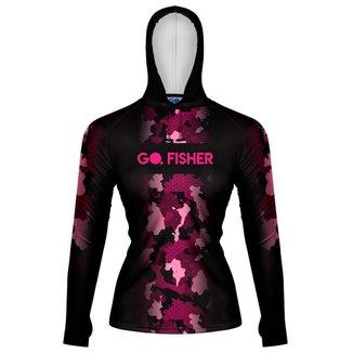 Camiseta de Pesca Feminina Go Fisher com Capuz e Proteção Solar - Gocpzf 04