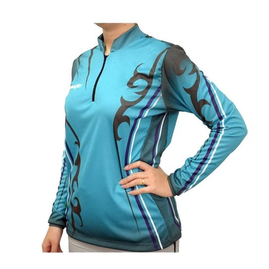 Camiseta De Pesca Feminina Mtk Atack Azul Celeste SSX Multicoisas - Azul