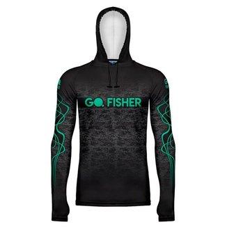 Camiseta de Pesca Go Fisher com Capuz e Proteção Solar - Gocpz 01