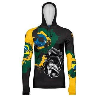 Camiseta de Pesca Go Fisher com Capuz e Proteção Solar - Gocpz 03