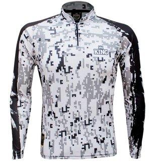 Camiseta de Pesca King Brasil Camuflada Proteção UV50+ Masculina