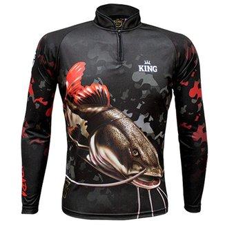 Camiseta de Pesca King Brasil Pirarara Proteção UV50+ Masculina
