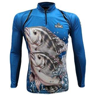 Camiseta de Pesca King Brasil Proteção UV50+ Tilápia - Masculina