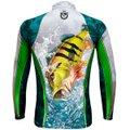 Camiseta De Pesca King Brasil Sublimada Manga Longa Masculina