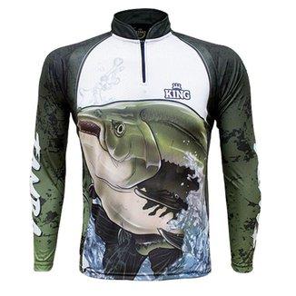 Camiseta de Pesca King Brasil Tambaqui Proteção UV50+ Masculina
