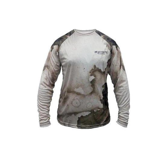 Camiseta de Pesca Masculina Joel Datena 02 Monster 3x SSX Multicoisas - Marrom