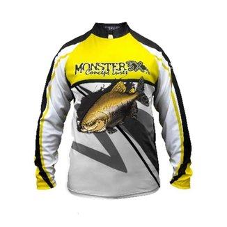 Camiseta De Pesca Monster 3x Tambaqui New Fish 02 Proteção Solar Uv SSX Multicoisas