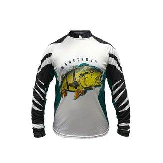 Camiseta De Pesca Monster 3x Tucunaré New Fish 07 Proteção Solar Uv SSX Multicoisas